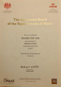 ABRSM Piano Grade 8 - Cô Hoàng Vân