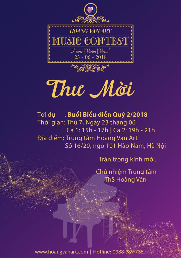Chương trình biểu diễn kiểm tra chất lượng quý 2 năm 2018 Trung tâm Hoàng Vân - Hoàng Vân Art - Hoàng Vân Piano