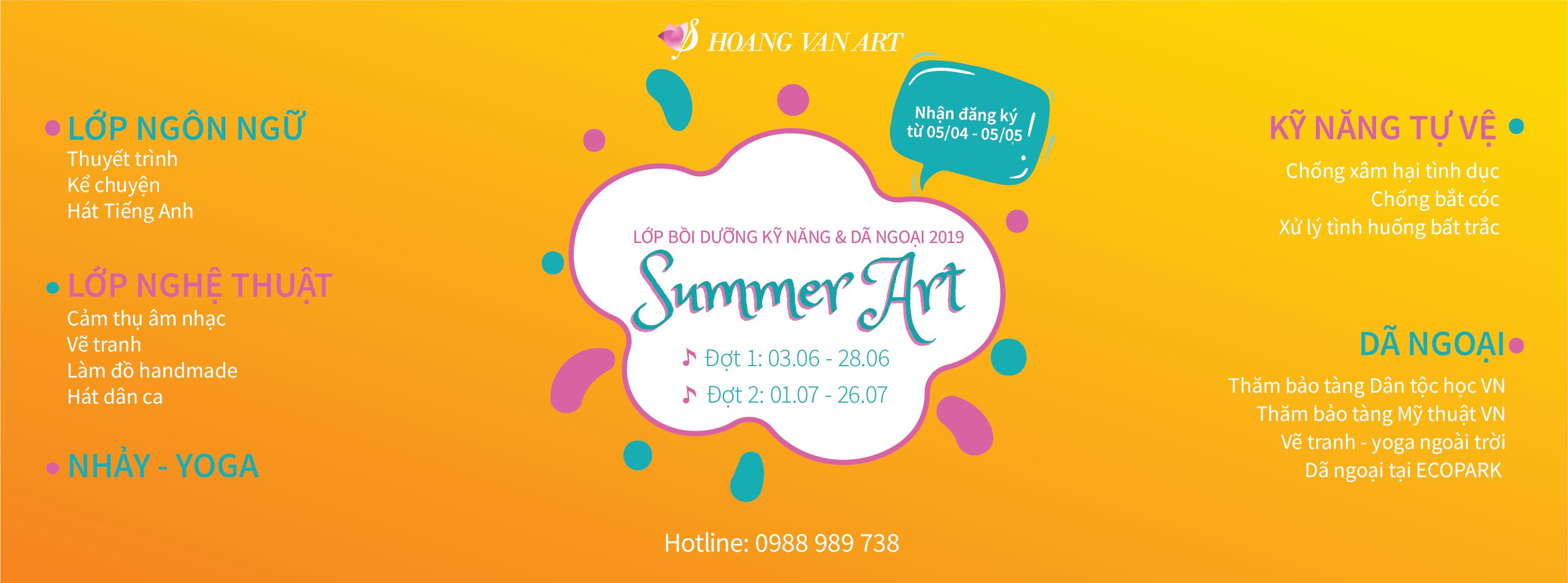 Mùa hè nghệ thuật 2019 của Hoang Van Art tại Hà Nội