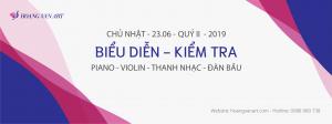 biểu diễn kiểm tra các lớp học piano thanh nhạc violin từ cơ bản đến nâng cao quý 2 năm 2019
