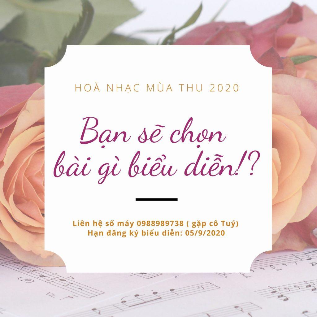 Kế hoạch tổ chức Hòa nhạc mùa thu 2020 cua Hoang Van Art